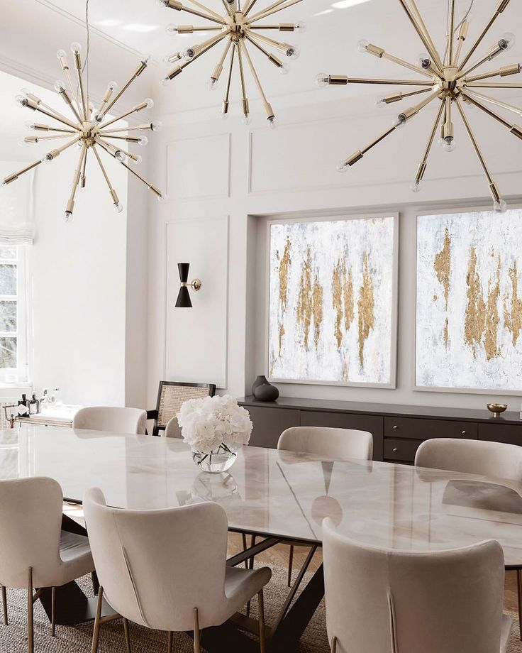 Gold Abstract Painting White Abstract painting Gold Canvas