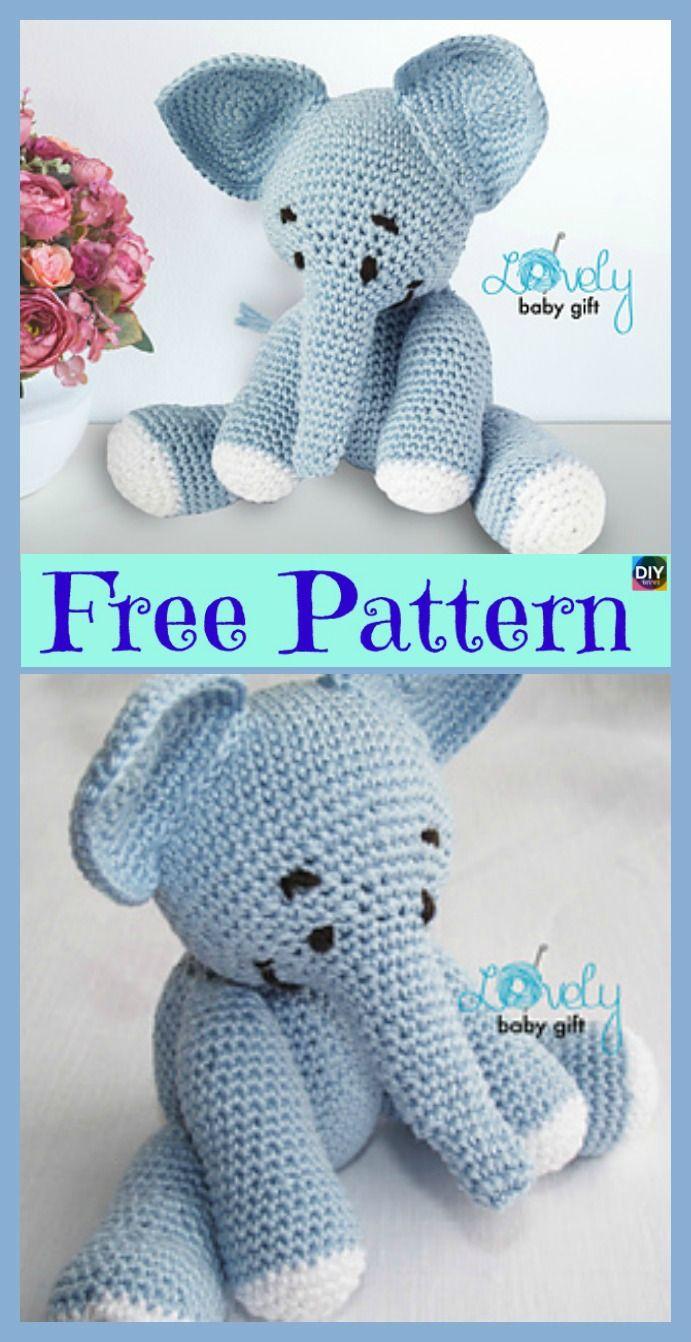 6 Crochet Amigurumi Animal Free Patterns | Crochet | Crochet