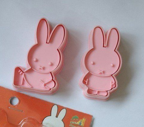 DGI MART 2 Pieces/set Pink Miffy Rabbit Cookie Cutter Cookie Candy Stamps Set *** More infor at the link of image @ : Baking Accessories