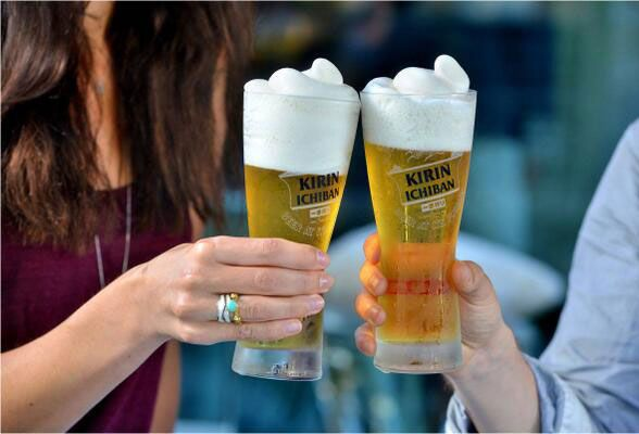 Frozen beer and its Japanese!