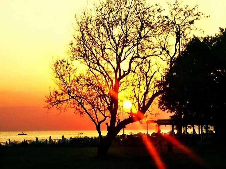 Sunset in Side, Turkey.