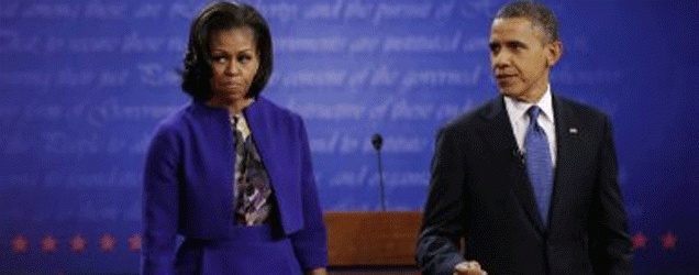 President Obama and First Lady Appear Stunned After First Debate - 2012 Debate - Fox Nation
