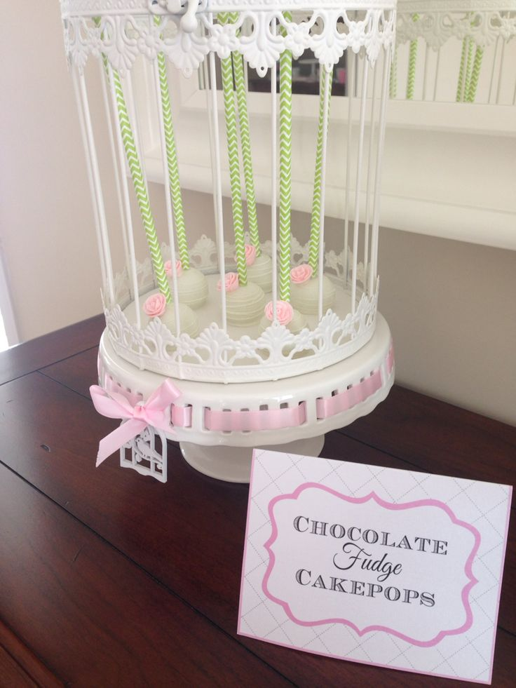 Elegant bridal Shower -garden theme -cupcakes and cake pops