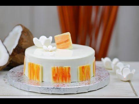 Пирог из кокоса и маракуйи, с белой глазурью, | Bavette