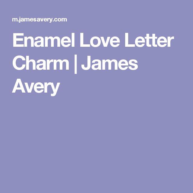 Enamel Love Letter Charm   James Avery