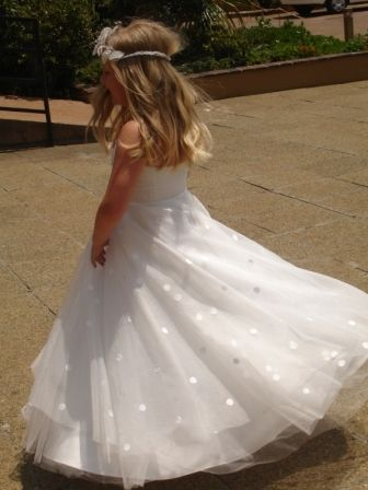 silk organza communion dress