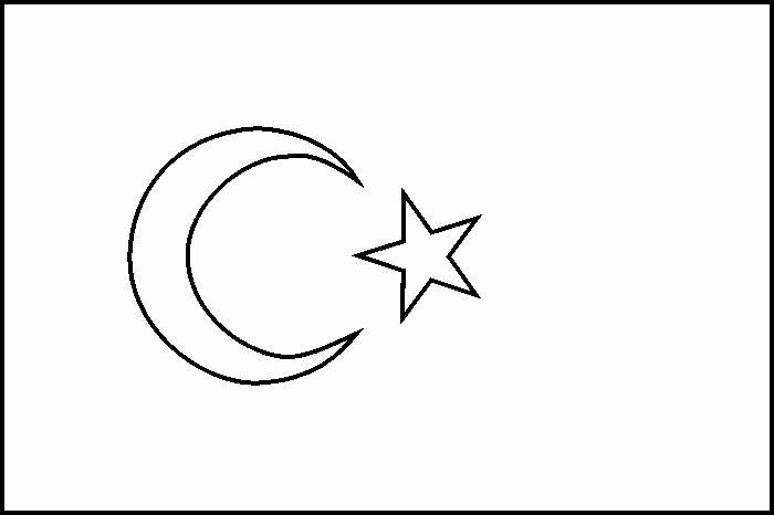 Turkish Flag Coloring Page In 2020 With Images Flag Coloring
