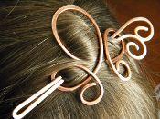 Clover Hair Slide - Copper $20 shop.elizabelladesign.com