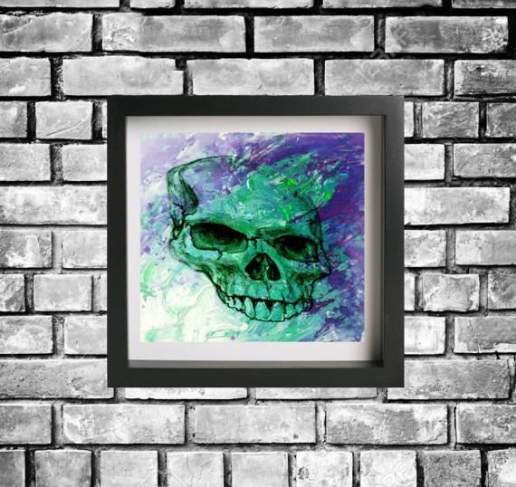 Hey, I found this really awesome Etsy listing at https://www.etsy.com/au/listing/504214388/skull-paint-print