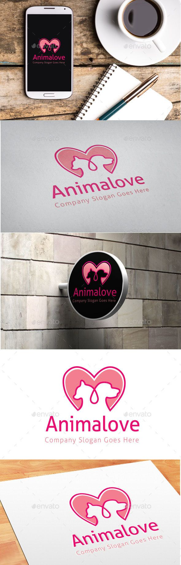 Pin by Cool Design on Pet Logo Template Love logo