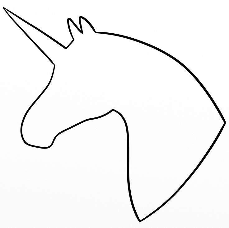 Unicorn Head Silhouette My Drawings