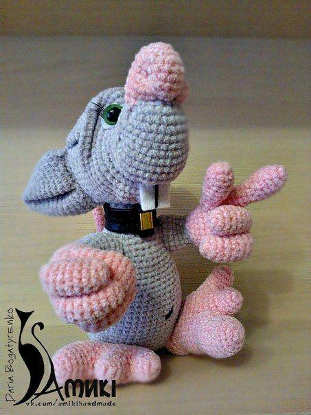 crochet toy, Mr. Rat