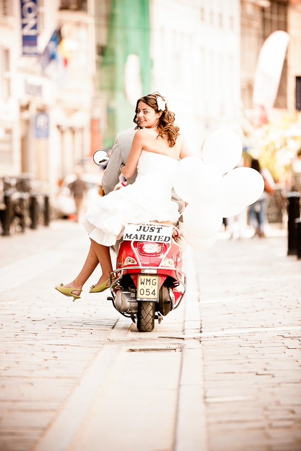 Wedding Vespa Gent