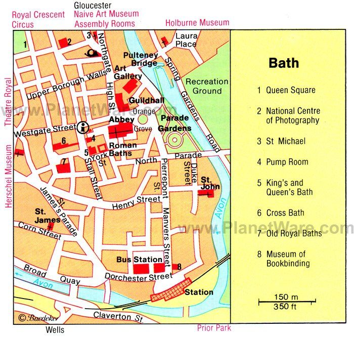 Bath Map Tourist Attractions London 2018 In 2019 Bath England