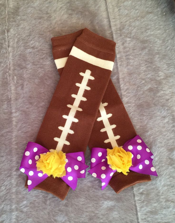 Purple and Gold LSU Tigers Football Leg Warmers, Football Leg Warmers, Purple and Gold Leggins, LSU Leg Warmers, Photo Prop, Bow Leg Warmers by SundayChildBoutique on Etsy https://www.etsy.com/listing/469369621/purple-and-gold-lsu-tigers-football-leg