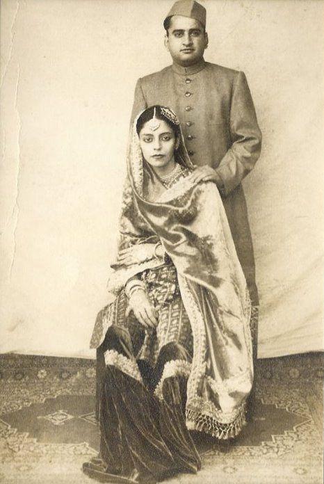 The cap, the crisp sherwani, the silk - very elegant