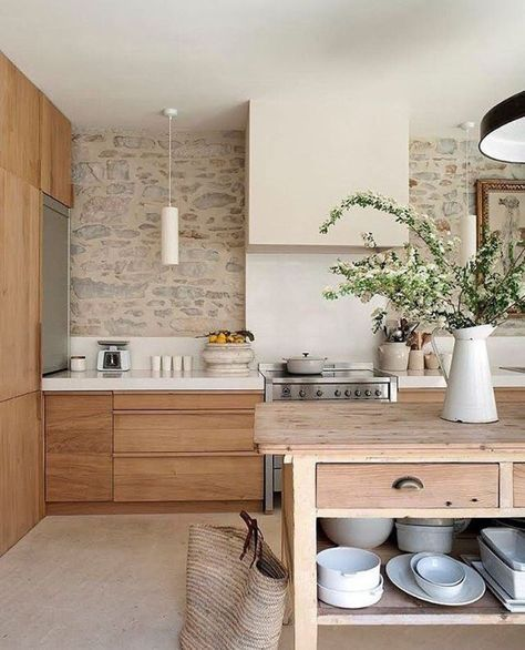 Stone walls in the kitchen Dream Home in 2018 Kitchen, Home