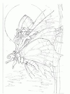 coloring pages of fairies and mermaids - 17 best images about fantasy coloring fairy kingdom on