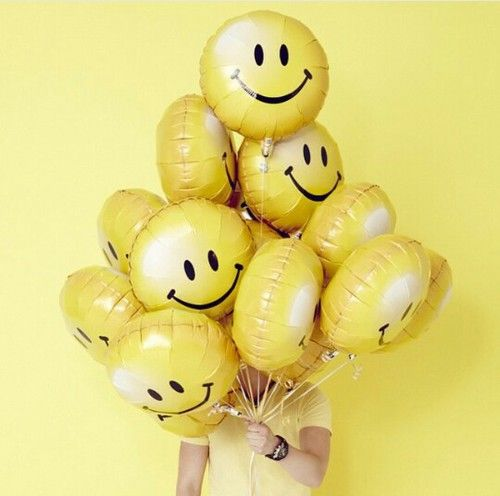 Imagem De Yellow Aesthetic And Balloons Shades Of