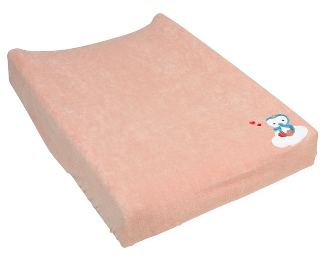 Niyu saura apporter douceur et chaleur à votre matelas à langer avec cette housse rose de Dreambee.