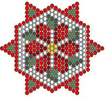 Free Pattern - 2008 Holiday Card 1 at Sova-Enterprises.com lots of free beading patterns and tutorials are available!