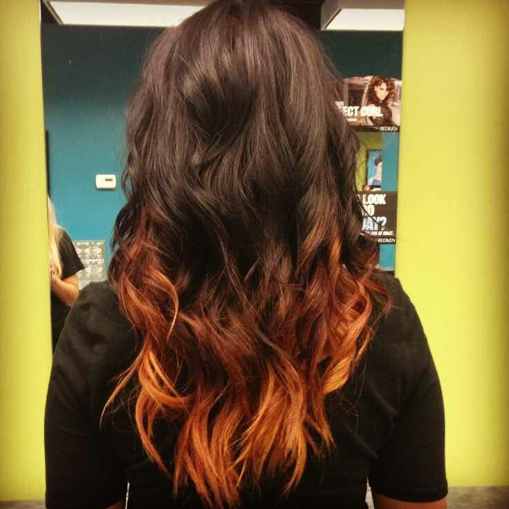 Black To Copper Ombre Love This Hair Pinterest Copper Ombre Ombre And Hair Coloring