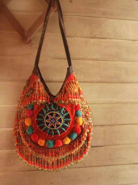 Gypsy Fringe crossbody bag // tribal // ethnic // by realmlistic