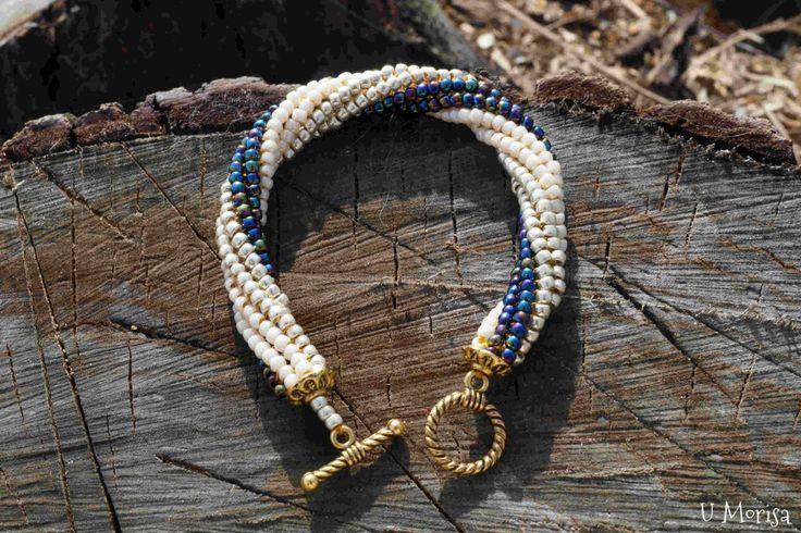 Hand made bracelet - Twisted Tubular Herringbone stitch