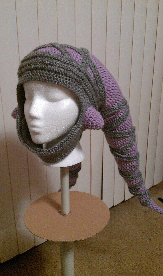 Star Wars Twi'lek Crocheted Hat FREE SHIPPING. $75.00, via Etsy.