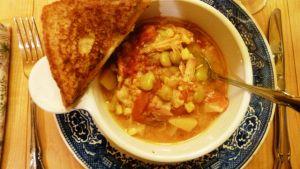 Favorite Brunswick Stew made with chicken.