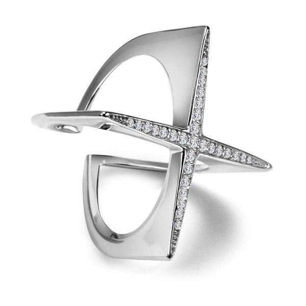 Scarlett - srebrny pierścionek z cyrkoniami