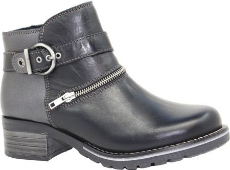 Dromedaris Kristina Ankle Boot - Black Metallic Leather with FREE Shipping & Exchanges. Kristina is a short ankle boot with inside zipper. Soft waxy leather has been brushed to perfection