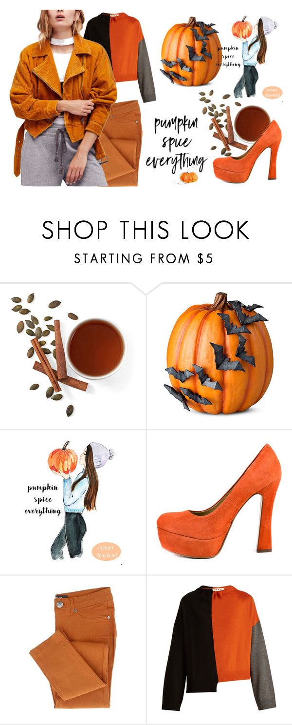 """Pumpkin parade"" by iris234 on Polyvore featuring Improvements, Chinese Laundry, Marni and Free People"