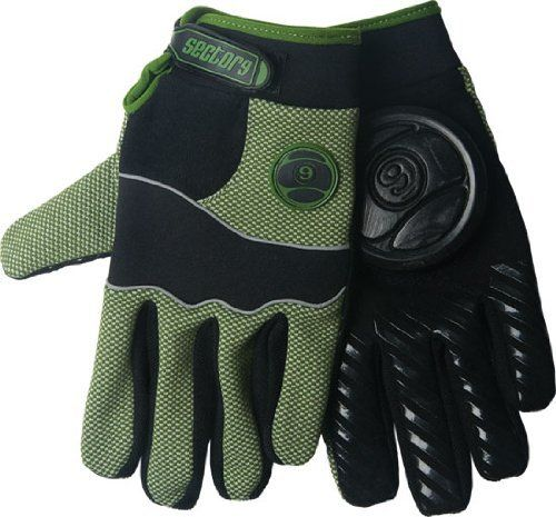 Sector 9 Apex Slide Gloves S/M - Green/Black by Sector 9. $35.66. High Density Grip Print on Fingers/Thumb. Terry moisture wicking panel. 50% Synthetic Leather / 10% Polyester / 10% Neoprene / 15% Spandex / 15% Other. 3mm Anti-vibration foam on palm. Delrin 9 Ball Pucks. Sector 9 knows what makes for a solid, functioning glove, and they have put all that knowledge into their new Apex Slide Glove. The Apex gloves are lightweight and breathable for those warm summer days a...