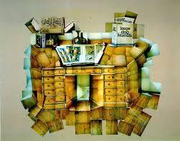 Photomontage of cabinet