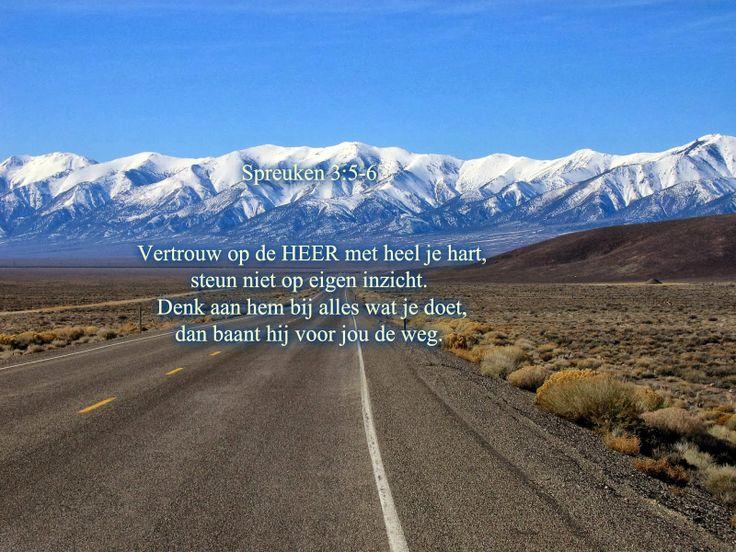 Spreuken 3:5-6 ( in Dutch)