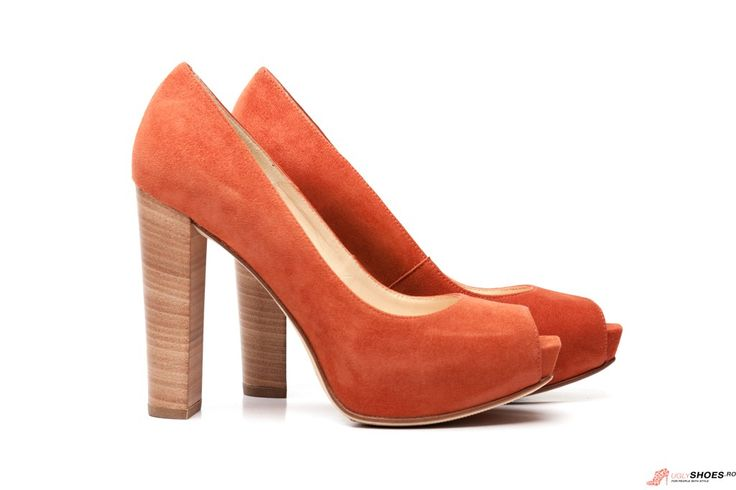 Pantofi Platforma Unisa - Portocaliu - 11cm