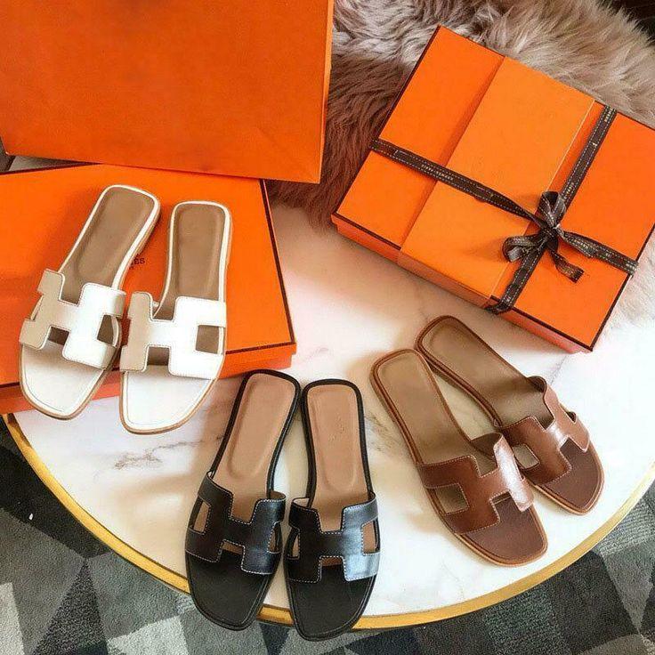 (eBay Advertisement) Womens Oran Flat Sandals H Type Real Leather Summer Beach S…