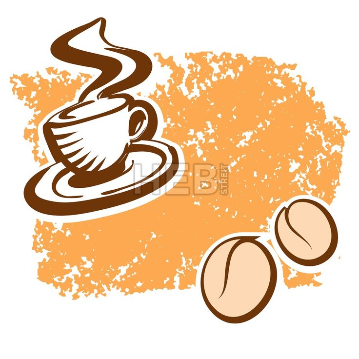 Brown Coffee Cup and Beans Sketch. Concept Vector Artwork with copy Space. Ideal for Food Price Labeling and Poster Layouts.... ... #vector #food #background #colorful #design #vector #download #stockimage #hebstreit