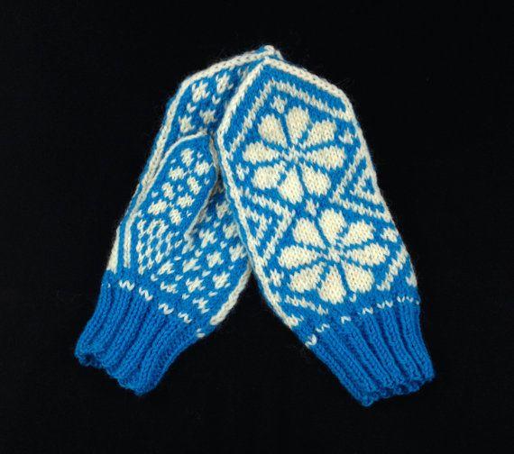Mitaines en tricot norvégien par SKHR sur Etsy