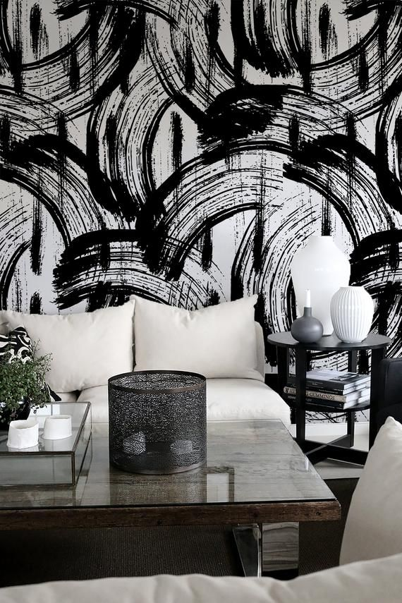 Removable Wallpaper Peel And Stick Wallpaper Wall Paper Wall Etsy In 2021 Removable Wallpaper Wall Wallpaper Black And White Wallpaper