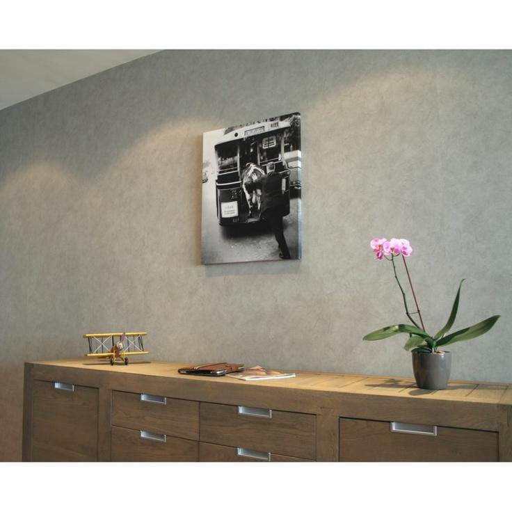 Canvas autobus met koe - Stijlvolle & Betaalbare Wanddecoratie | wanddecoratiestore.be