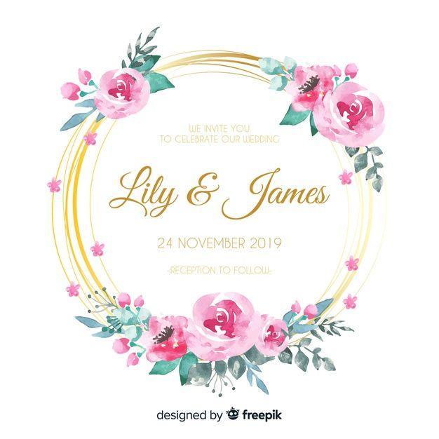 Download Wedding Floral Invitation Card For Free Convite De