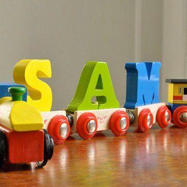 Letter treinen, een mooi geboorte cadeau!