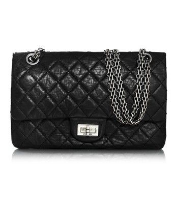 2854d0441aaec3 Get one of the hottest styles of the season! The Chanel Black Calfskin  Leather 2.55 Reissue Shoulder Bag is a top 10 member favorite on Tradesy.