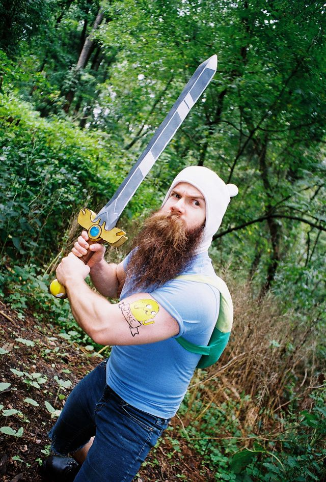 The Burliest Adventure Time Cosplayer Goes On A Badass Journey | dem arms, wowza.