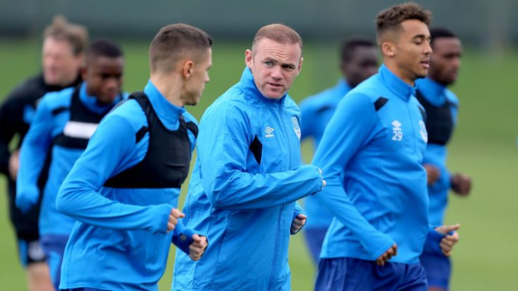 Wayne Rooney plays full part in Everton training ahead of Europa League clash #News #composite #Everton #Football #Social