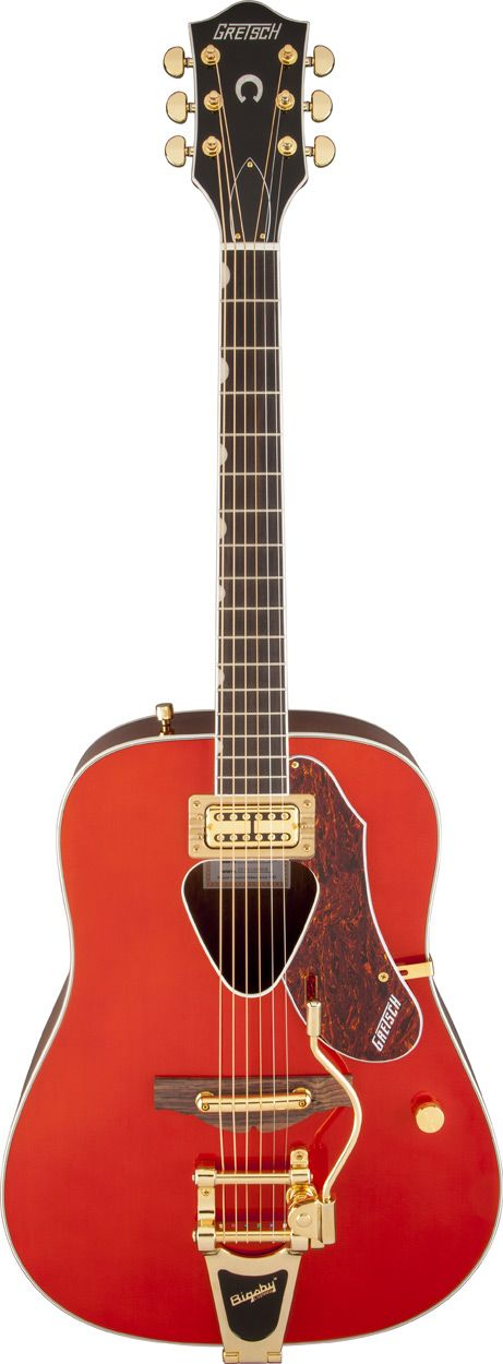 G5034TFT Rancher™ by Gretsch® Acoustic Guitars.  I've never seen an acoustic guitar with a bigsby before...