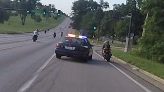 Motorcycle VS Cops Chasing Bikers Swerves At Stunt Bikes Police Chase Street Bike Runs From Cop 2016  MOTORCYCLE VS COPS Chasing Stunt Bike Riders Cop Swerves At Street Bikes Running From The Cops During MOM Street Stunt Ride 2016 In Kansas City, ...  Motorcycle Parts>>> http://amzn.to/2jsweFR   https://www.youtube.com/watch?v=zhzlrkiYHks