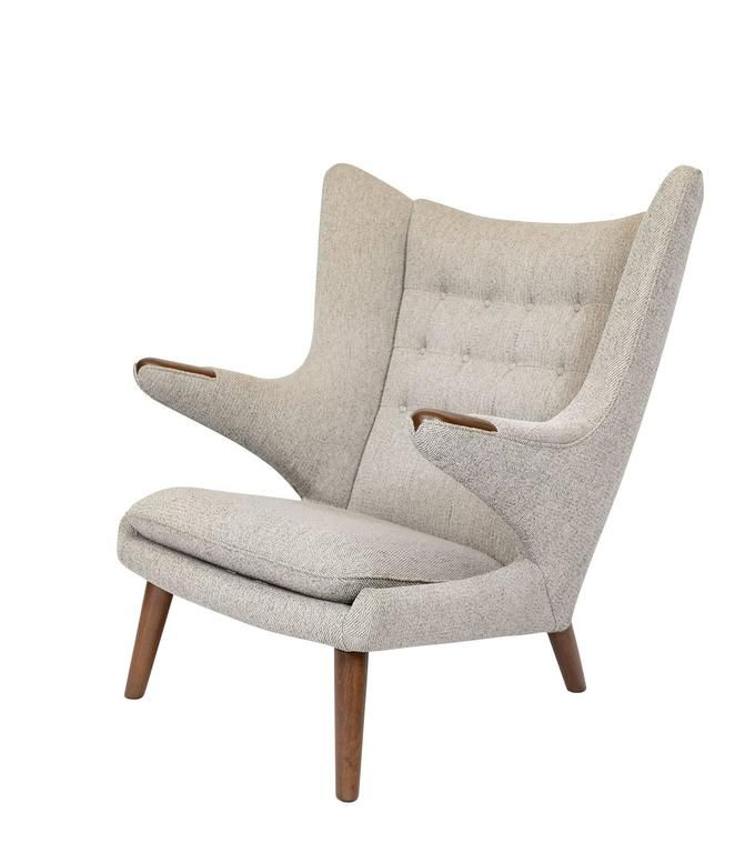 "Hans Wegner ""Papa Bear"" Chair and Footstool 3"